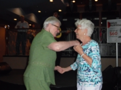 Joan, who normally dances alone, was joined by and equally great dancer.   Photo Credit:  Carolyn MacArthur.
