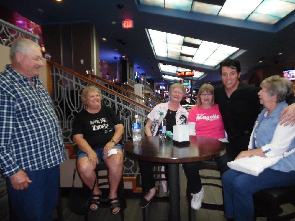 Friends and fans of ETA  Matt Cage : Ron, Doreen, Bobbi, Judy, and Betty pose with Matt between sets at Elements/Flamboro on June 22nd, 2018.  Photo Credit: Carolyn MacArthur.