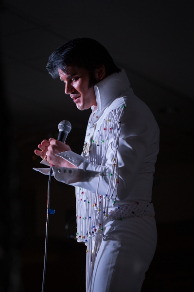 ETA  Eddy Popescu  during  his award winning performance at Flaming Star Elvis Festival, 2017.   Photo Credit:  Lori-Anne Crewe, LA Crewe Photography for SIDEBURNS Magazine.