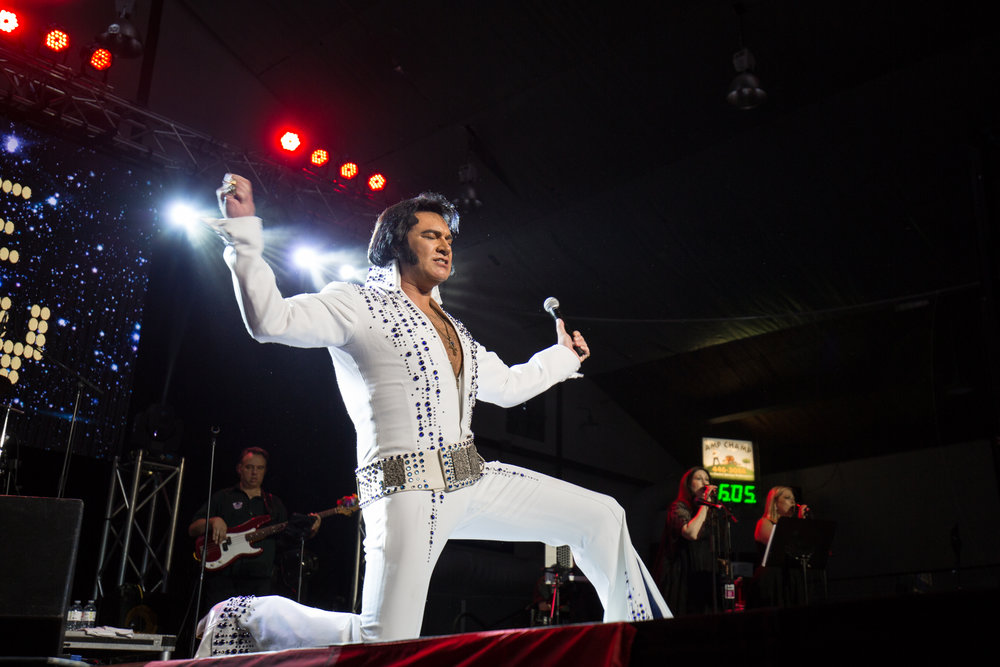 Grand Champion ETA  Tim E Hendry  in the final moment of his winning performance at the Collingwood Elvis Festival 2018.  Photo Credit: Lori-Anne Crewe, LA Crewe Photography.