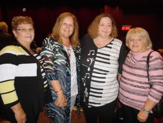 Gwen, Connie, Rosemarie, and Cathie.  Photo Credit: C. MacArthur.