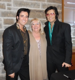 ETA  Pete Paquette , Carolyn MacArthur, Editor, SIDEBURNS, and ETA  Chris Connor .  Photo Credit: C. Paquette for C.M. .