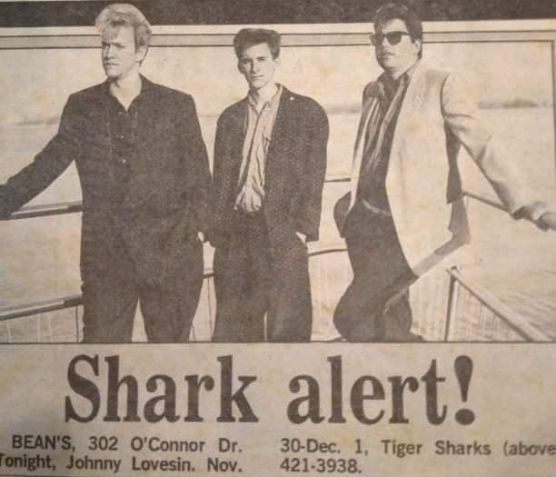 Newspaper ad announcing our show. I am the one with blonde hair. We made a lot of appearances on  Breakfast Television  in the 1990s.