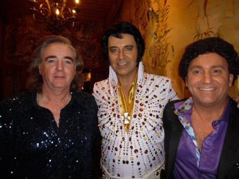Tribute artists, Will Chalmers as Neil Diamond,  Sylvain Leduc  as Elvis, and Dave LaFlame as Tom Jones, brought the appreciative Rockway audience to their feet with their brilliant performances.  Photo Credit: C. MacArthur.