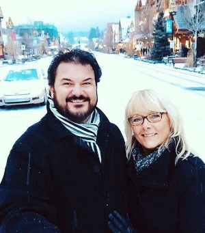 Andrew Martin and his wife, Janet, in Banff, Alberta.