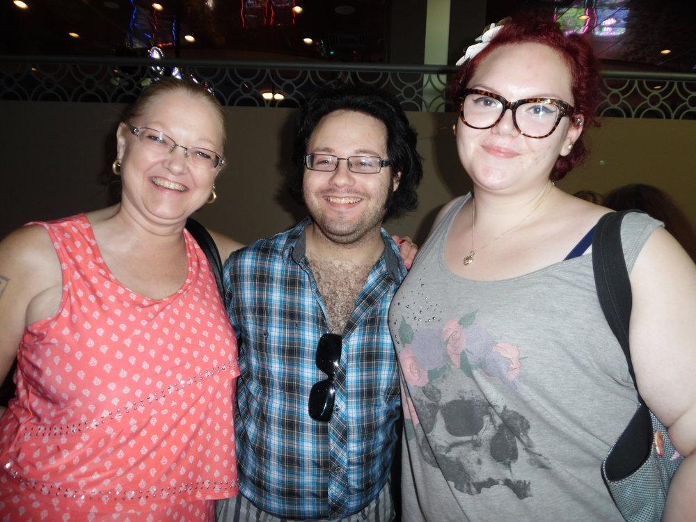 Cathy Carbone, Anthony Joseph, and Autumn Elise at ETA Anthony Von's Flamboro show.  Photo Credit: C. MacArthur.