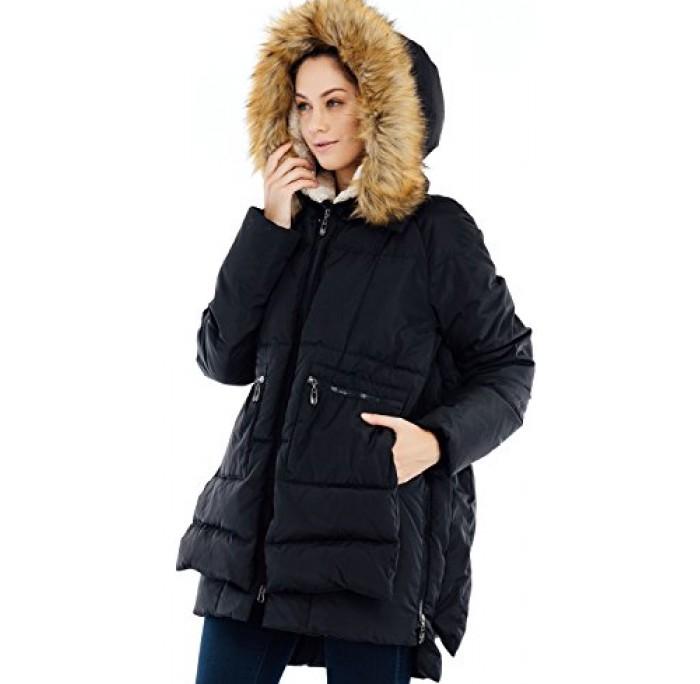Valuker Women's Down Coat With Fur Hood 90% Down Parka Puffer Jacket