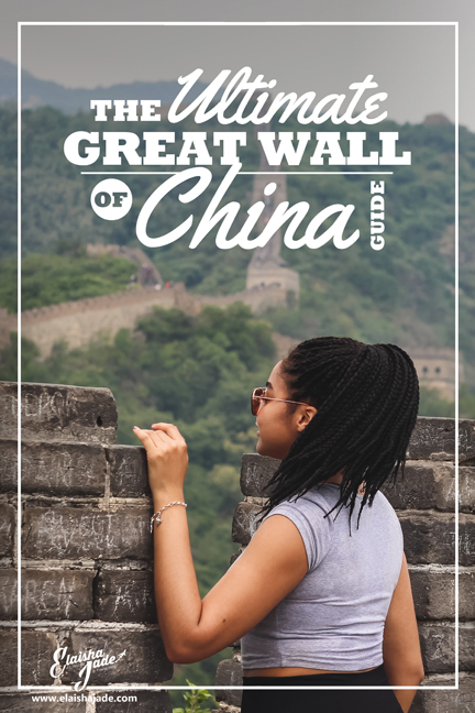Elaisha Jade great wall of china black travel