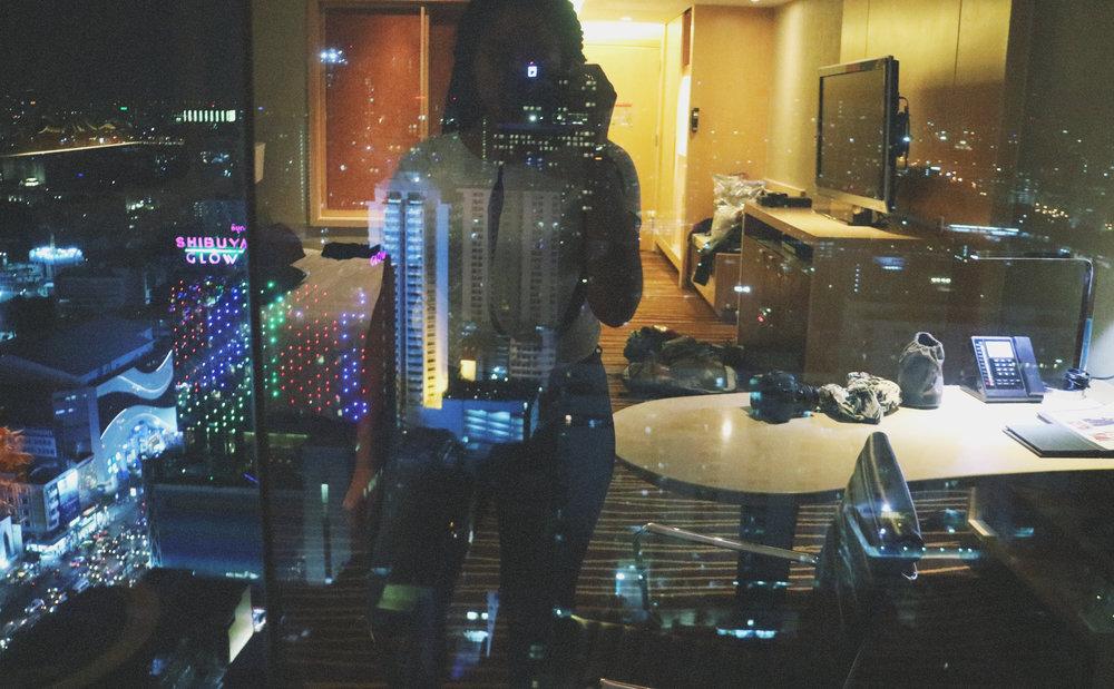 Elaisha Jade night view at the Amari Watergate Bangkok
