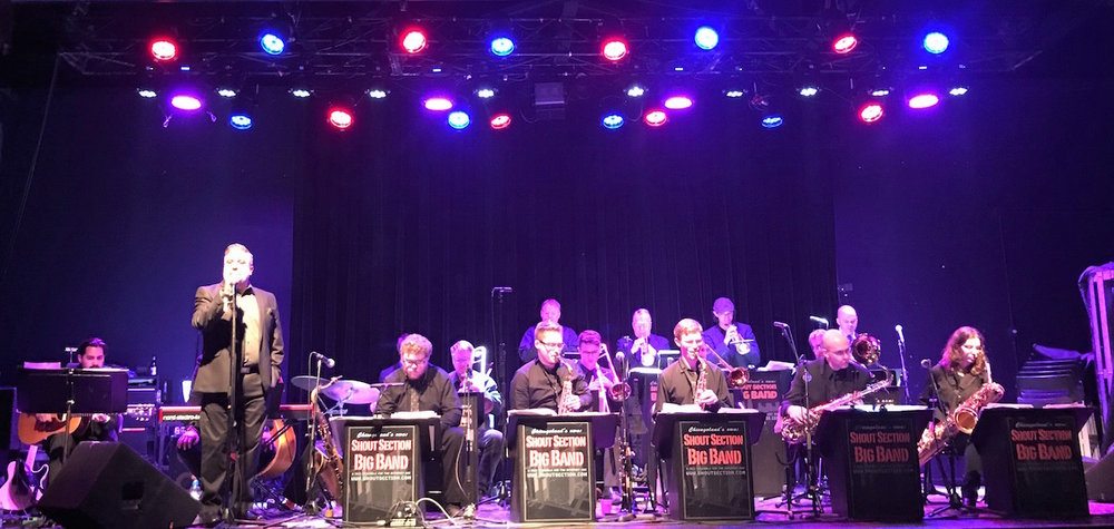 Performing with Shout Section Big Band