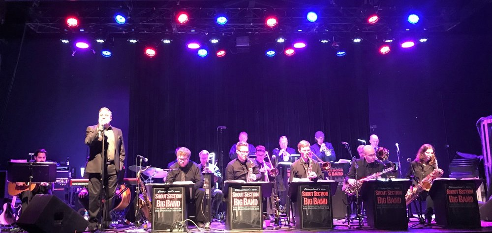 Sam with Shout Section Big Band