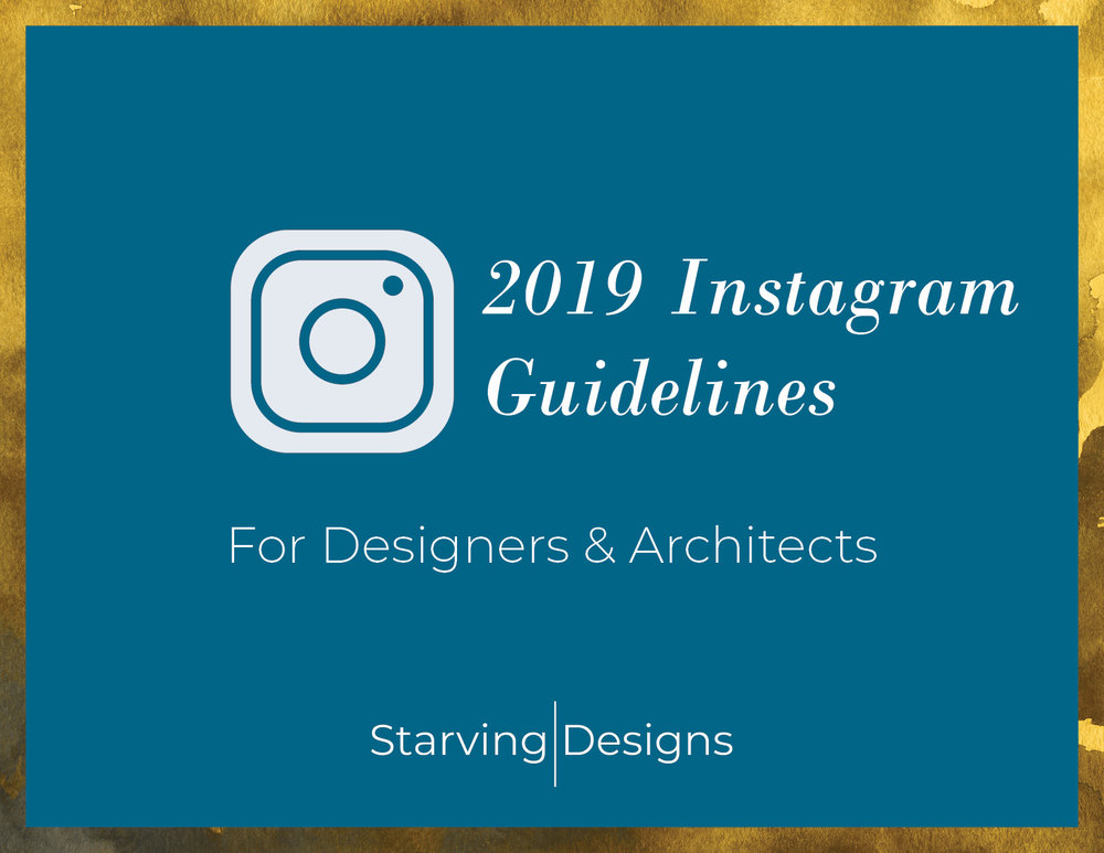 New eBook - Made just for architects and designers, my simple 24 page Instagram Guide will teach you how set up and use your business's Instagram account to successfully grow your online presence. Instagram is a powerful tool, especially in 2019. Learn how to use it to your advantage!