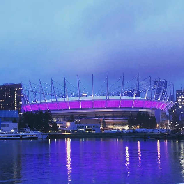 Purple stadium