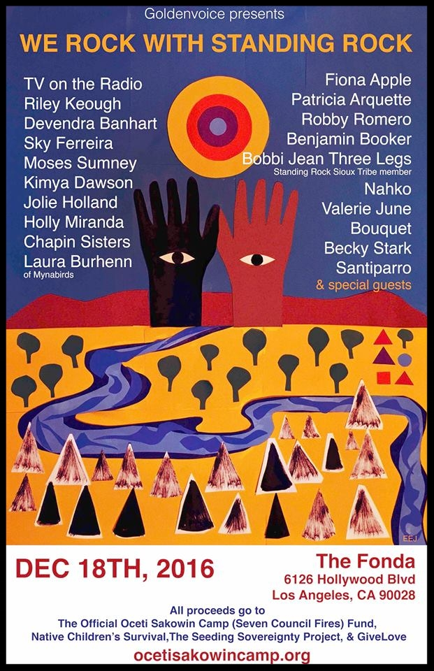 Robby Romero Standing Rock Concert Series Posterjpg