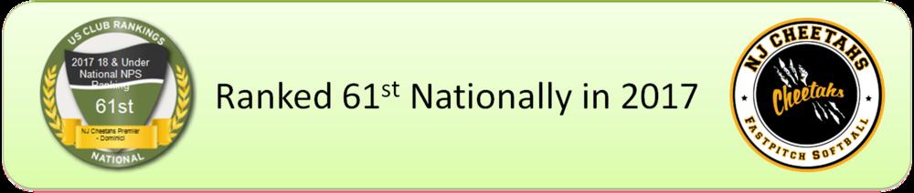 61st National Ranking