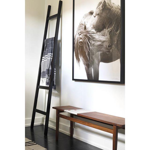 "love seeing our ""butcher macrame bench"" in one of @mitzimaynard beautifully designed interiors! #madebyregiven  #nashville #walnutbench #nashvilleinteriors #handmadefurniture #customfurniture #shoplocal #nashvillehandmade #handmadenashville #handmademodern"