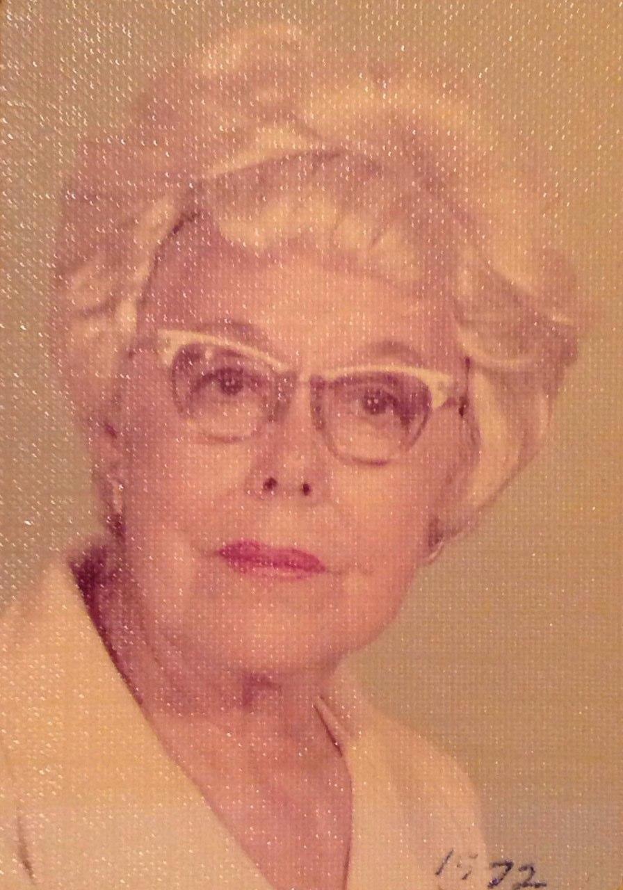 Ethel Herrin Barnes, my great-grandmother, in 1972