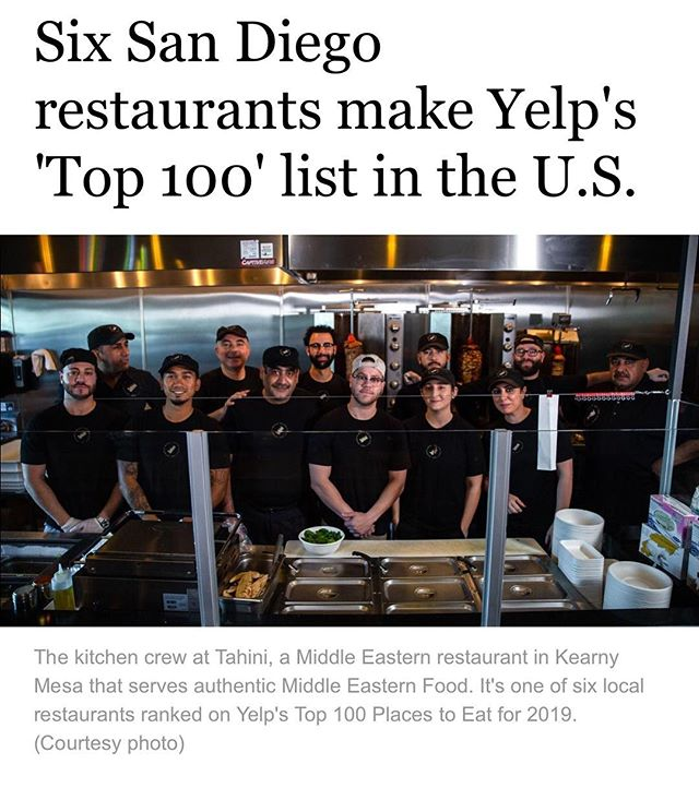 Honored and humbled by the recognition. There is still a long way to go but getting this far wouldn't have been possible without all of your support and without our amazing team. We're looking forward to the next steps with you all! All praise to the Most High 🙏🏽 #eattahini #eatsandiego
