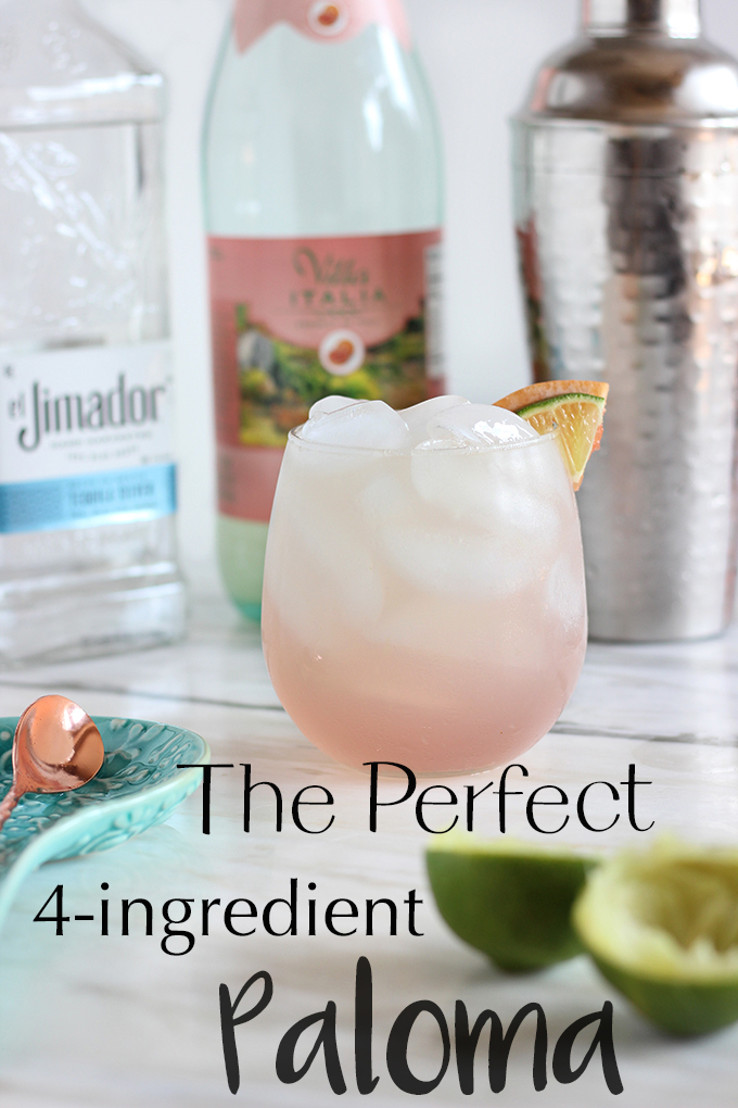 The Perfect 4-Ingredient Paloma only takes 5 Minutes so pretty and EASY to make
