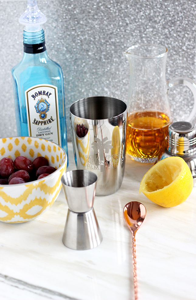 Easy Bubbly Cocktail Recipe - French 75 with Muddled Grapes + Cava