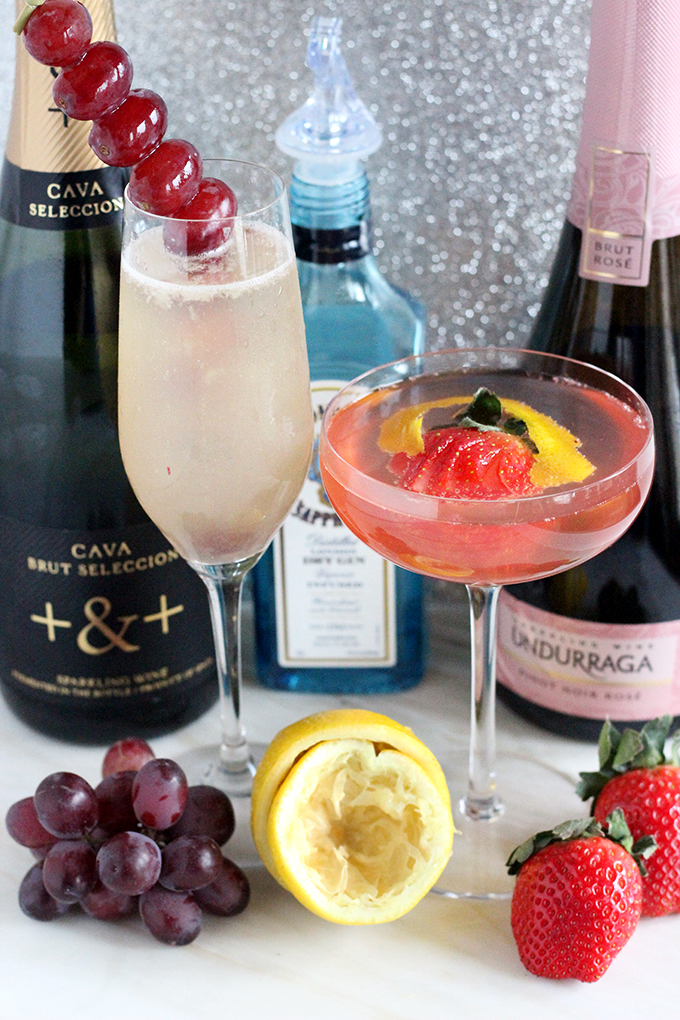 Easy Bubbly Cocktail - French 75 Two Ways