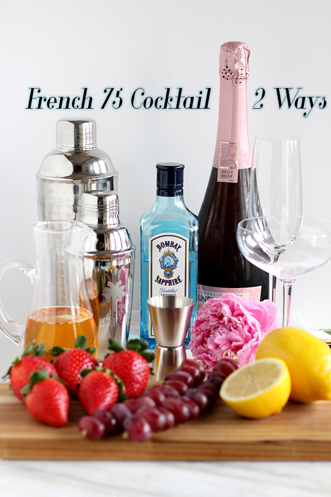 Easy Bubbly Cocktail Recipe - French 75 Two Ways