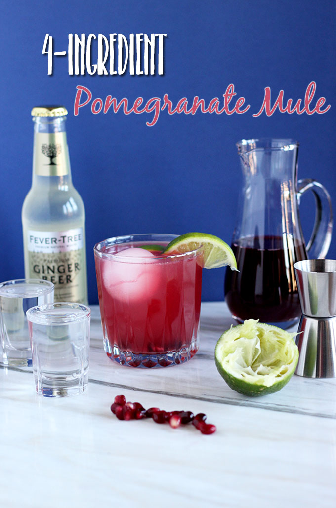 4-Ingredient Pomegranate Mule | The Cheers Years