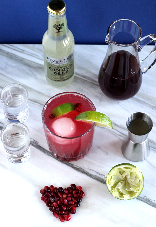 EASY 4-Ingredient Pomegranate Mule | Cheers Years