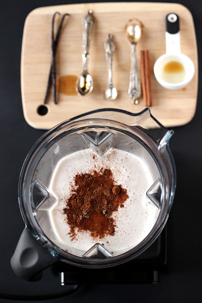 Spices for Sweetly Spiced Homemade Almond Milk | The Cheers Years #vegan #dairyfree #almondmilk