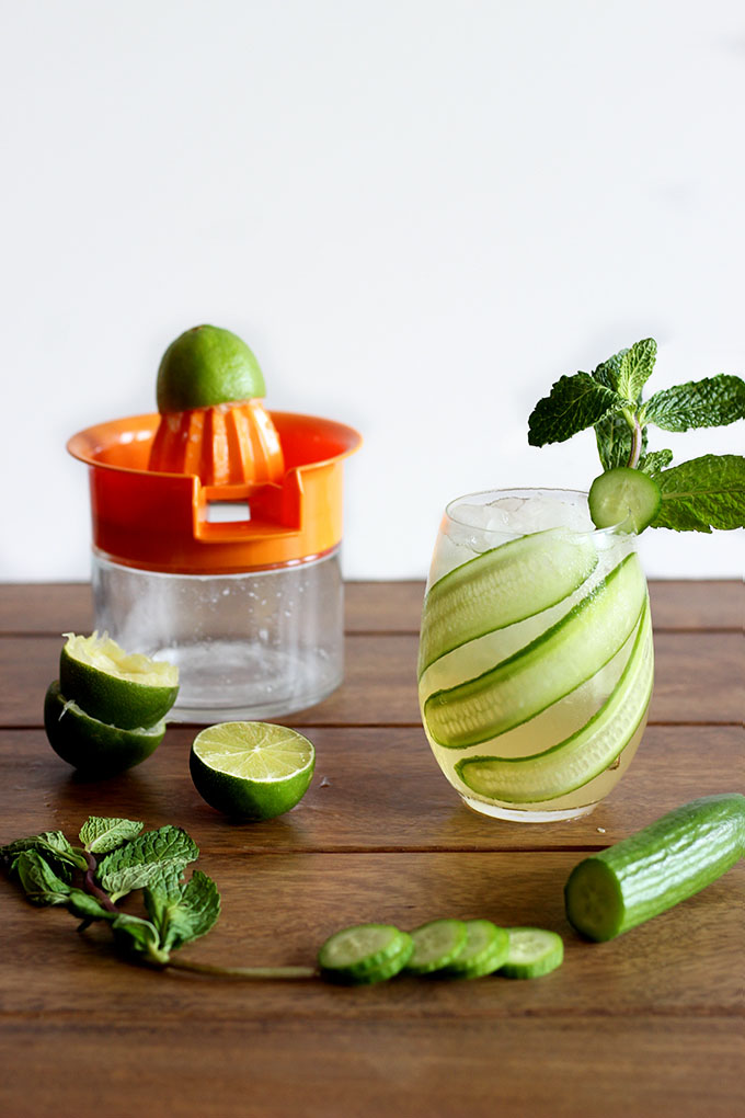Easy Cucumber Mint Cocktail