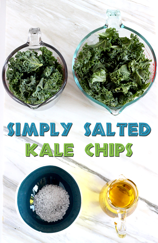Simply salted kale chips - only 3 ingredients and 30 mins to make! | The Cheers Years