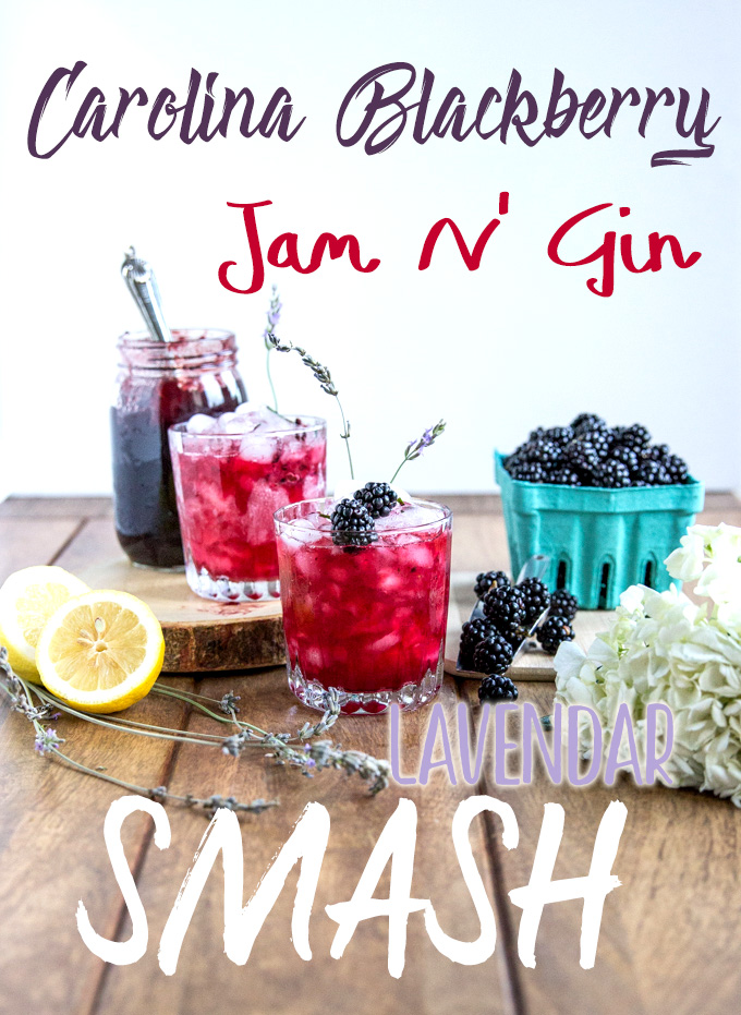 Blackberry Jam N' Gin Lavender Smash made with only 5 ingredients from Cheers Years! #gincocktail
