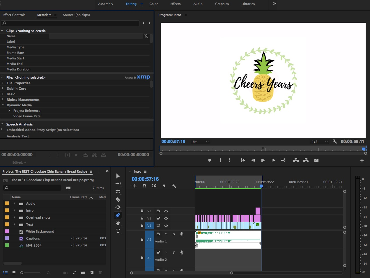 5 lessons I learned from beginning recipe videos on Adobe Premiere Pro | Cheers Years