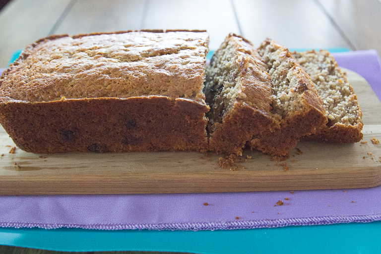 The BEST GF Banana Bread with Chocolate Chips Recipe! #glutenfree #bananabread