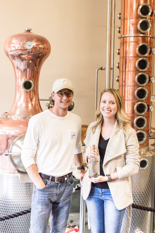 Meeting Lee of Boots Vodka at the distillery in Wendell, NC.jpg
