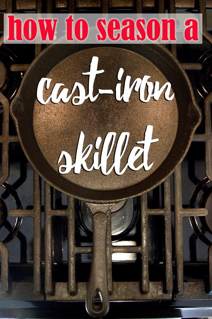 How to season a new cast iron skillet step-by-step on CheersYears.com!