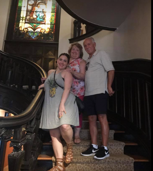 Family picture at  The Van Benthuysen-Elms Mansion  - Each time I visit this site it becomes more magical. The only historic home on St. Charles Avenue that offers a space for events; with a magnificent 48 foot grand ballroom and infinite amounts of details around every turn.