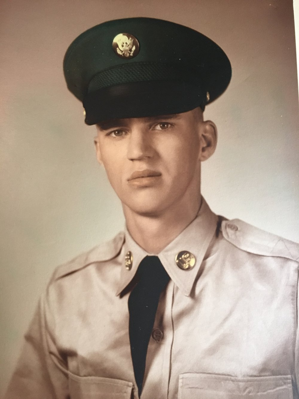 My brave Father, right before heading to Vietnam.