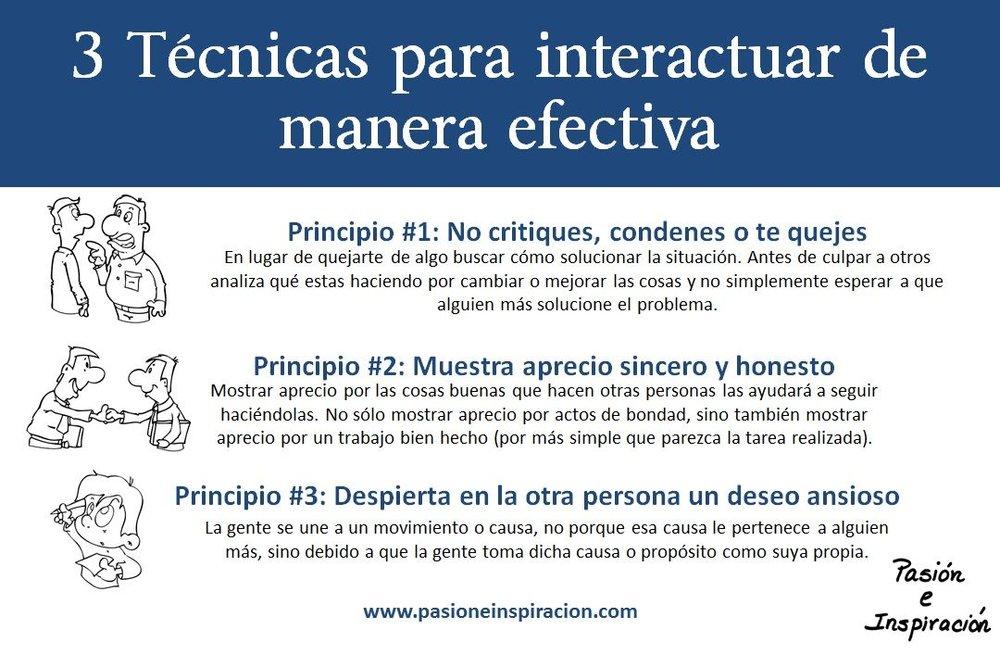 3 Tecnicas Para Interactuar de Manera Efectiva