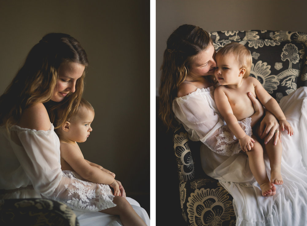 Tonya Edwards | Oroville Photographer | mama holding daughter in white gown