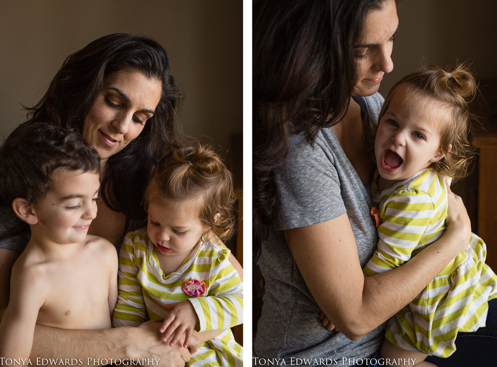 Tonya Edwards | Oroville Photographer | mama and child and baby sitting in a chair laughing