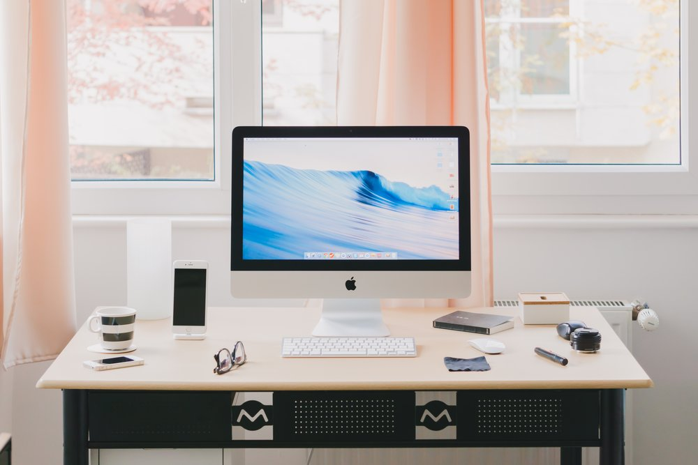 A dedicated workspace filled with natural light will make working from home that much breezier.