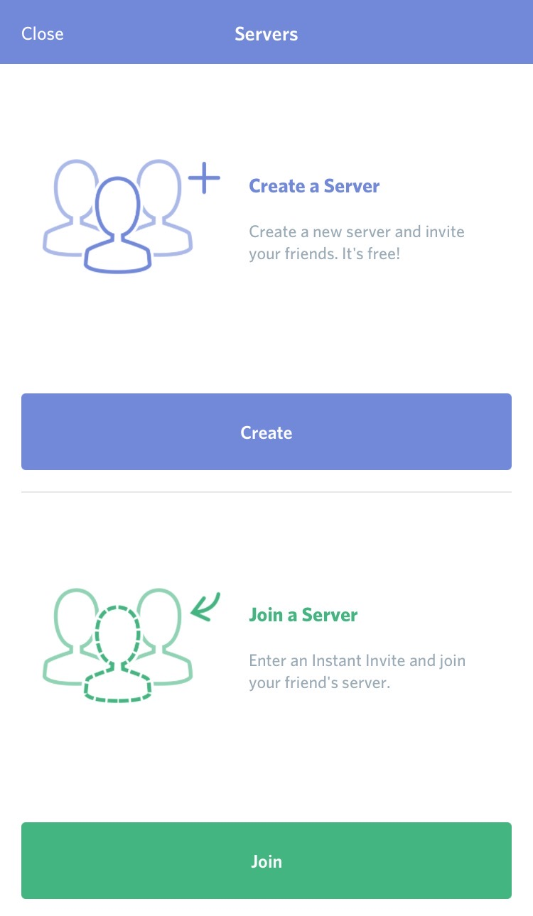 Step Four | Tap the plus button to join a server.