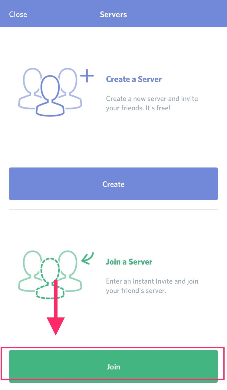 Step Five | Select 'join a server.'