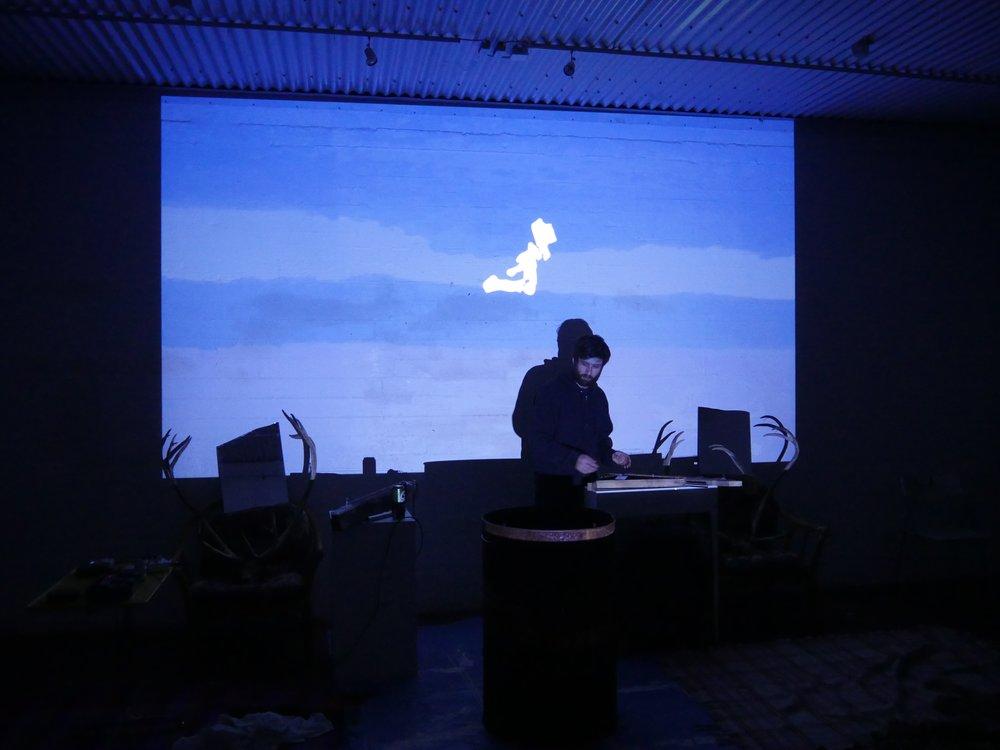 Fog Storm Performance One at NES, Skagaströnd, Iceland