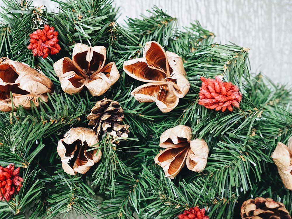 Naturally inspired wreath
