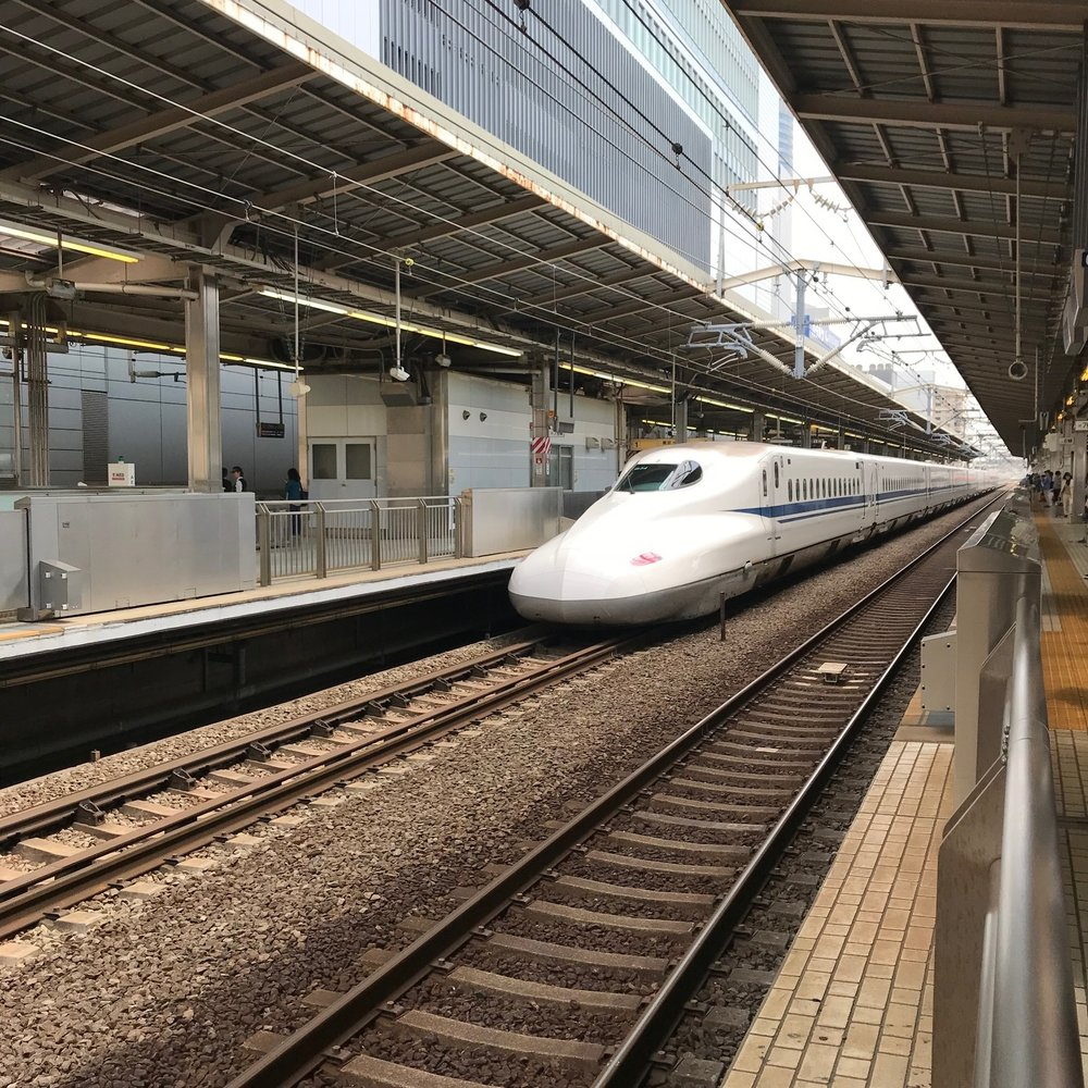 We took a high speed train to Kyoto after the show.
