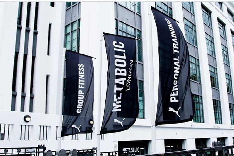 I MOVE ME METABOLIC LONDON BOUTIQUE FITNESS STUDIO FLAGS OUTSIDE VIEW
