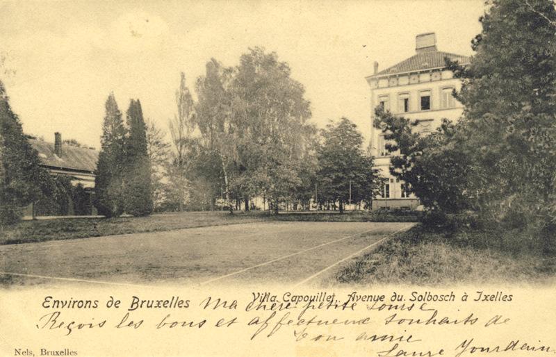 Figure 1 : Carte postale montrant la maison de maître, Villa Capouillet