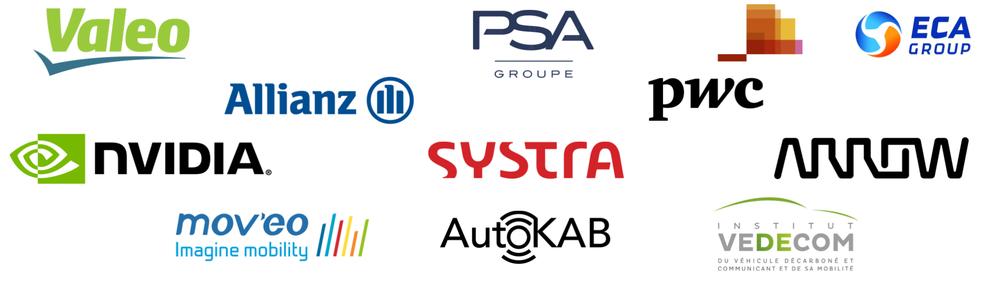 Our partners, batch#1, Autonomous and connected mobility